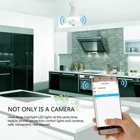 LED Lamp APP WIFI Control Camera 960P Mini Camera Lamp Light FishEye Smart Family 3D APP