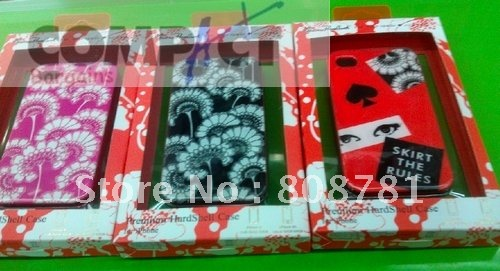 Free shipping flower hard case for iphone4g,iphone 4s with retail package, factory price