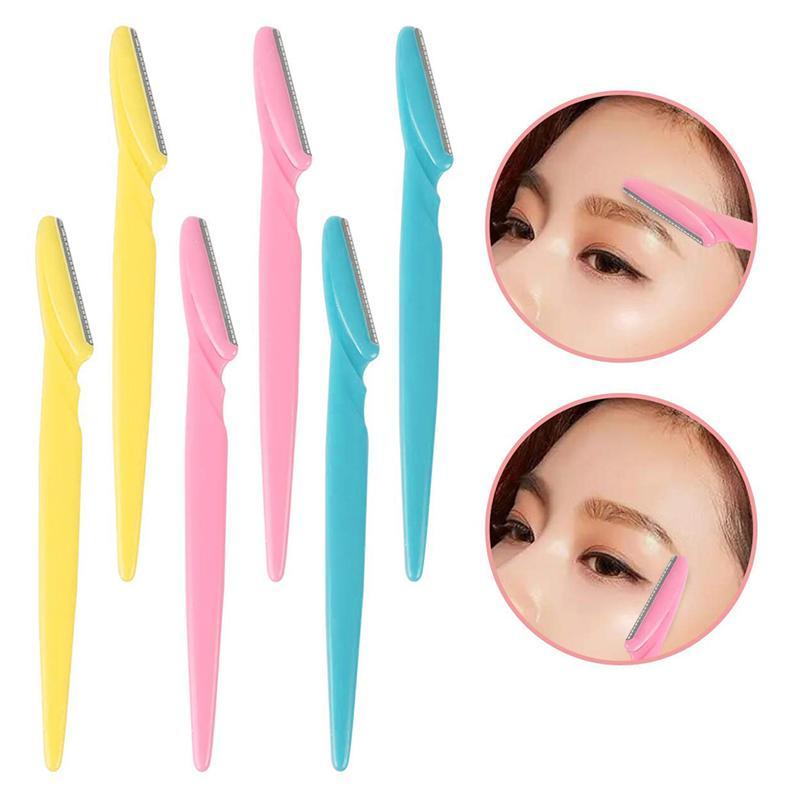 12/36 pces cor sobrancelha aparadores metal durável sobrancelha navalha facial removedor de pêlos para senhoras menina