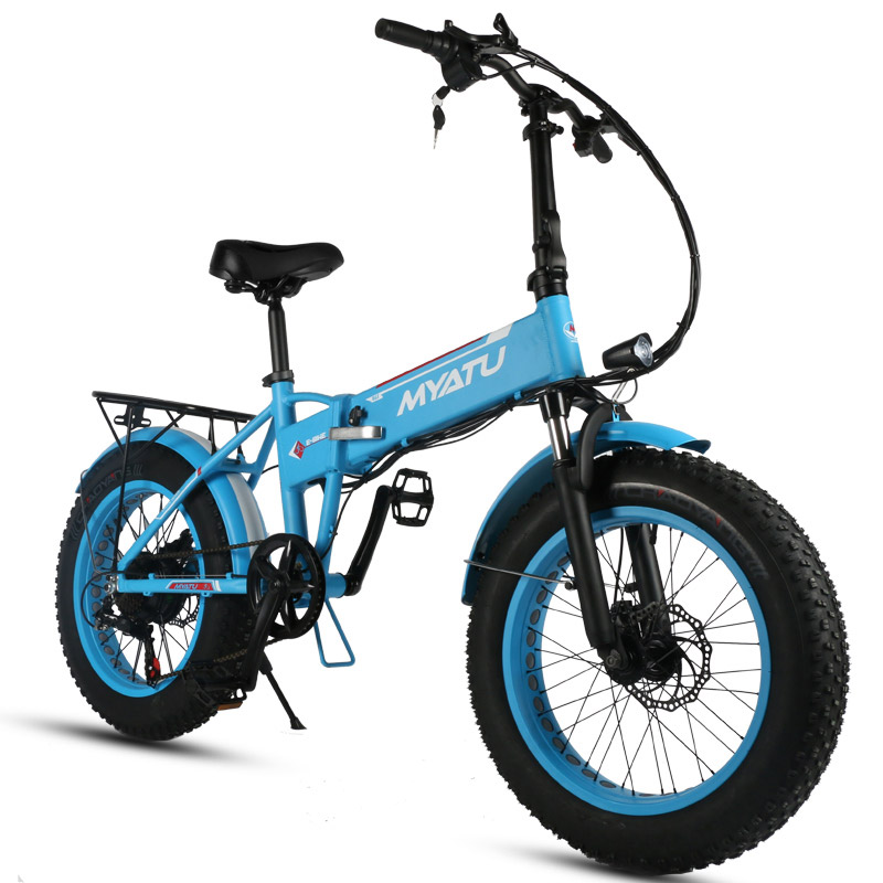 20 inch Folding electric bike snow ebike Hidden frame lithium battery  travel electric bike with LCD Diaplay and LED light free shipping 48v 15ah battery pack lithium ion motor bike electric 48v scooters with 30a bms 2a charger