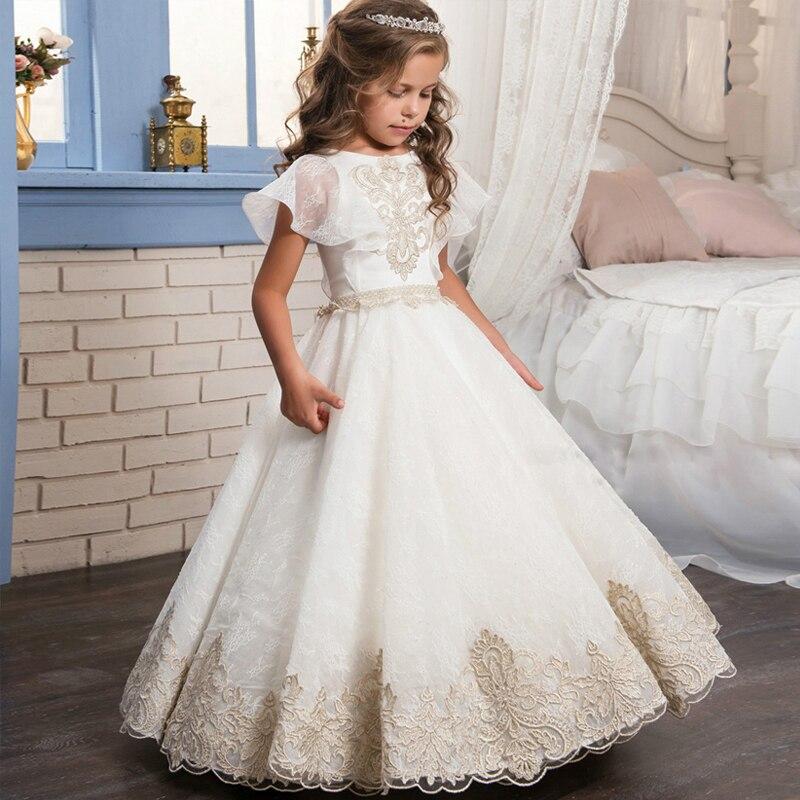 Palace Retro Lace Shawl Girls Tutu dresses Flower Girl Wedding Dress все цены
