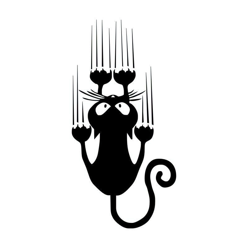 rylybons Naughty Cat Car Sticker Car Motorcycle Accessories 15 7 5cm Vinyl Body Window Car Decor