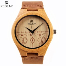 Factory Wholesale Bamboo Wood Men's Wristwatches With Lover Picture Star Wooden Watches
