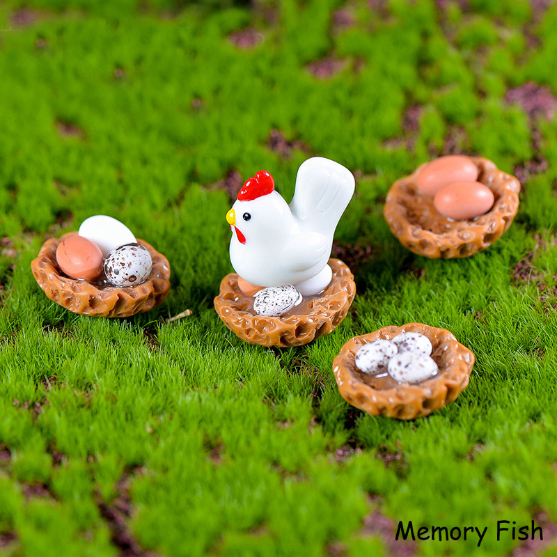 Funny cute Hatch chicks animal modl Resin cartoon doll toy,Micro garden decorationDIY dollhouse accessories