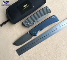 NIGHTHAWK Custom Bearing folding knife s35vn blade Titanium handle camping hunting survive pocket fruit knives EDC tool