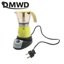 DMWD электрическая Кофеварка Moka, итальянский эспрессо, латте, Кофеварка, около 300 мл, кофейник, Перколятор, кофейные инструменты, 200 в, штепсельная вилка европейского стандарта