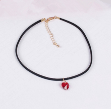 Choker Necklace Heart Pendant New Fashion Leather Jewelry Vintage Accessory Charm Elegent Gift for Young Girl Women