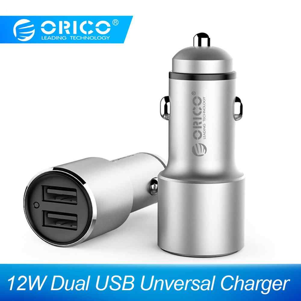ORICO USB Car Charger with Mini Size 2 Ports Universal Quick Fast Car Charger for Xiaomi Car Charger for Huawei for iPhone X