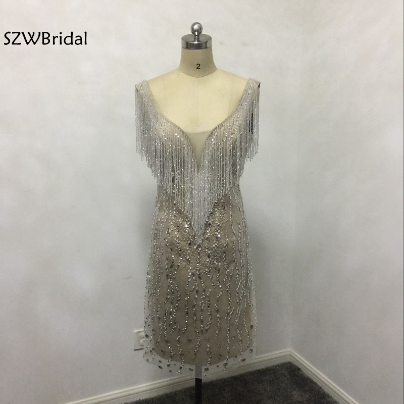 New Arrival Short evening dress 2019 Backless avondjurken gala jurken robe de soiree abiye formal dress Party evening gowns