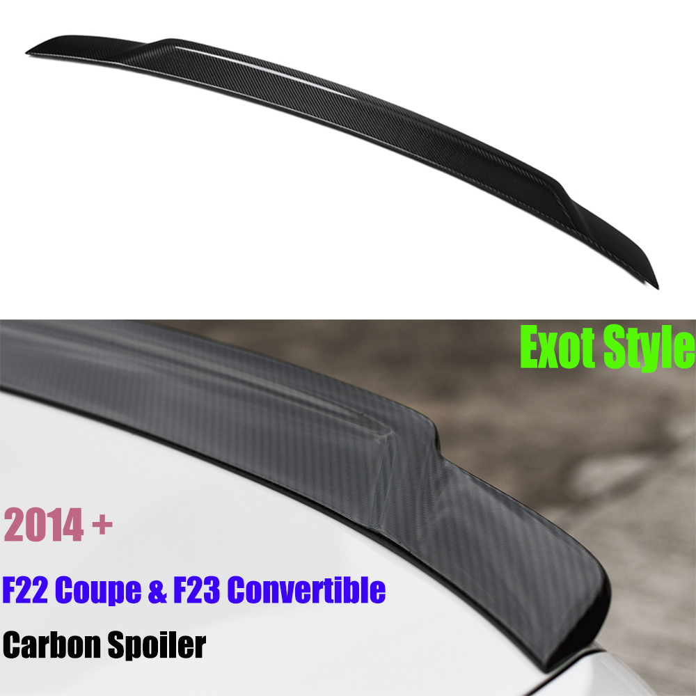 For BMW F22 F23 Spoiler 2 Series F22 Coupe F23 Convertible F87 M2 Carbon Fiber Wings