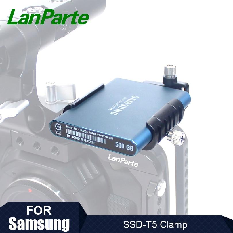 Lanparte SSD zacisk do Samsung T5 SSD dla BMPCC 6K kamera 4K z portem USB typu C zacisk kablowy i do montażu na zimno w Akcesoria do studia fotograficznego od Elektronika użytkowa na  Grupa 1