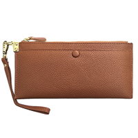 Our ReALIty 1 Lichee Wallet Genuine Cow Leather Women Long Wallet Standard Purse Lady Party Handbag Small Size EGT0137
