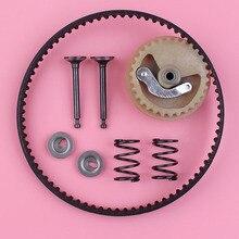 Timing Belt Camshaft Pulley Valve Spring Retainer Set For Honda GX35 GX 35 4 Stroke Engine Motor Lawn Mower Trimmer Part timing chain and camshaft eccentric shaft for robin subaru ex13 ex17 ex21 ex27 4 stroke gasoline enigne parts
