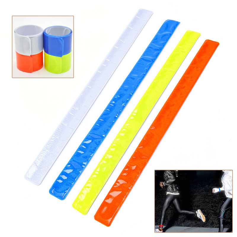 Bike Bicycle Cycling Band Arm Leg Pant Reflective Strap Belt Safety Reflector