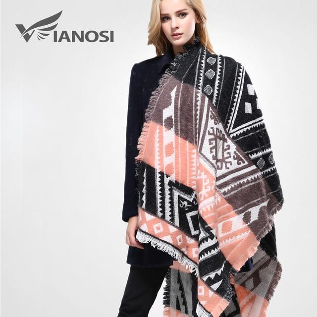 [Vianosi] marca bufanda mujeres chales y bufandas de la manera bufanda caliente del invierno de algodón de alta calidad mujer va087