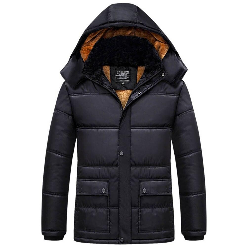 2019 Jk18046 Black Impermeable Outwear Cálido Hombres Hombre Viento Abrigos Ropa Nieve Piel Abrigo Los Size De Chaquetas Invierno Marca Tops Asian rU6pTrqw