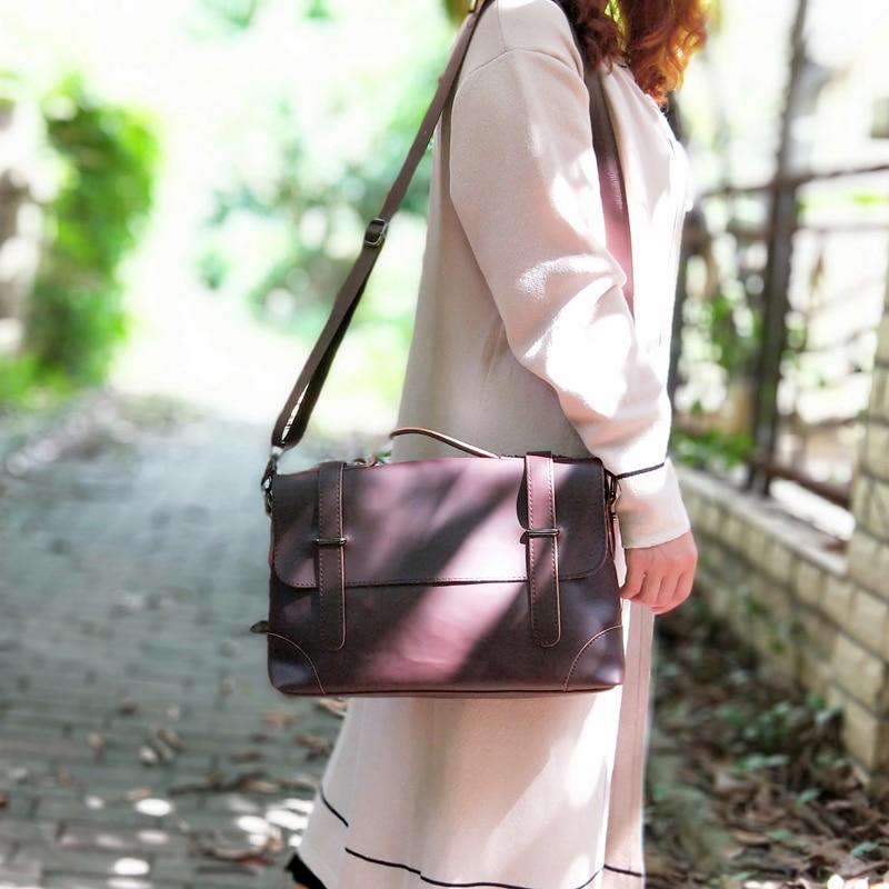 2019 Vintage Women Bag Horizontal Literary Handbag Multifunction Shoulder Bag Fashion OL Business Women Briefcase