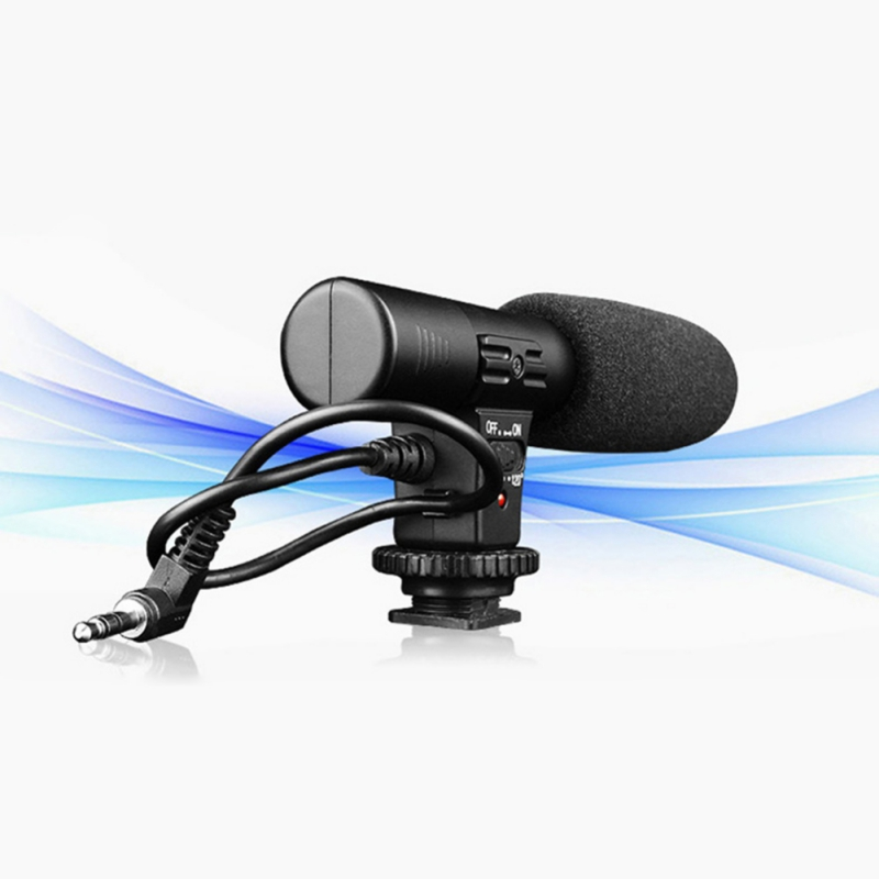 Mic-01 3.5mm Recording Microphone Digital Video DV SLR Camera Studio Stereo Camcorder for Canon Nikon Pentax Camera leather camera hand grip for slr camera digital video camcorder sj4000