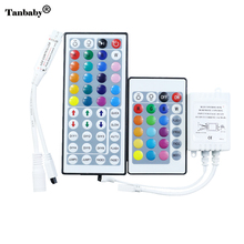 Tanbaby RGB LED Strip Controller DC12-24V 24Key 44key IR Remote control Dimmer for Dimmer for 3528 5050 RGB led strip light