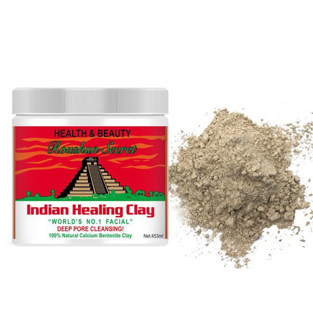 Indian Healing Clay Face Mask (0.8 Pound) Skin Care Deep Cleansing Blackhead Remover Facial Mask Moisturizing Whitening