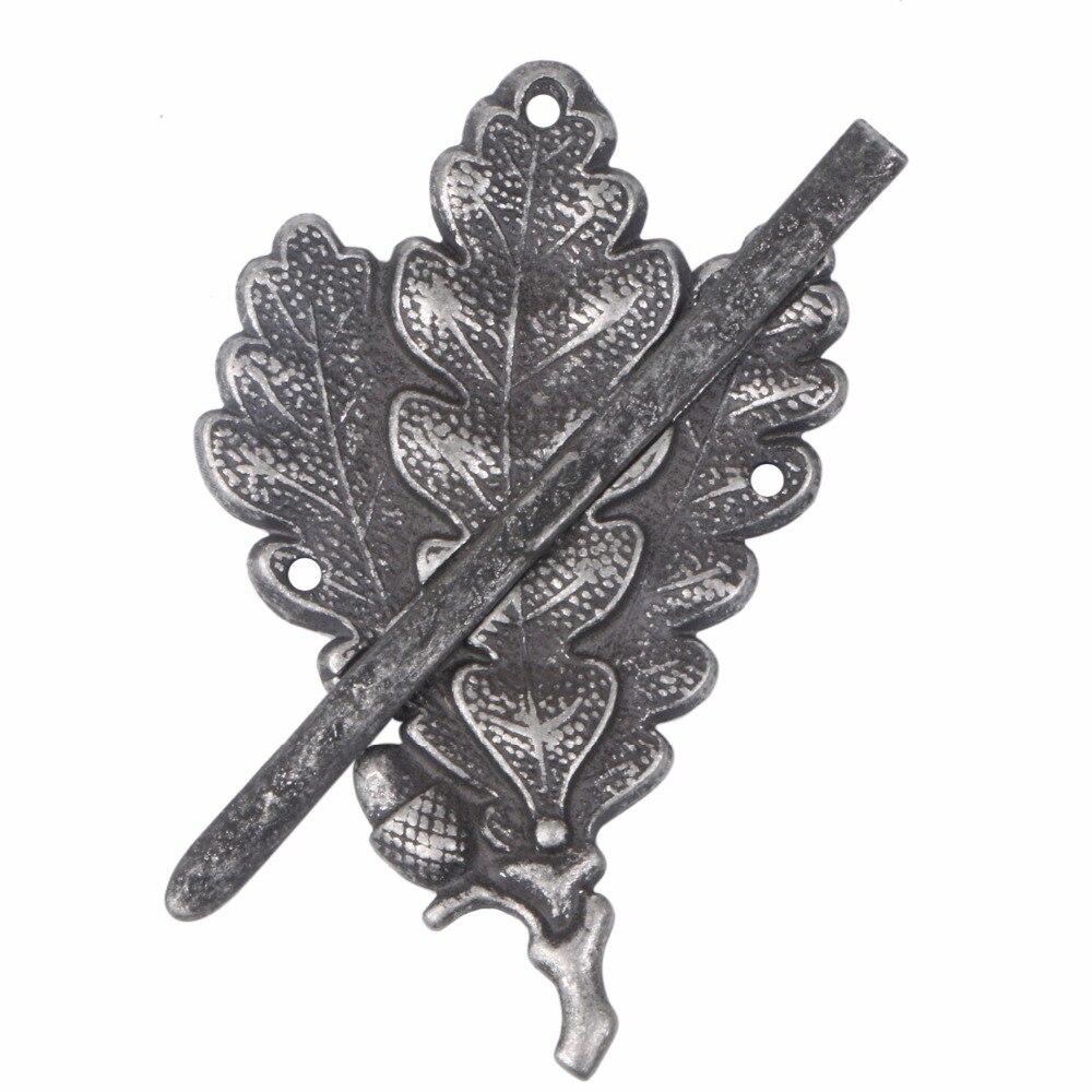 WW2 GERMAN ARMY SKI SNIPER OAK LEAF METAL CAP BADGE