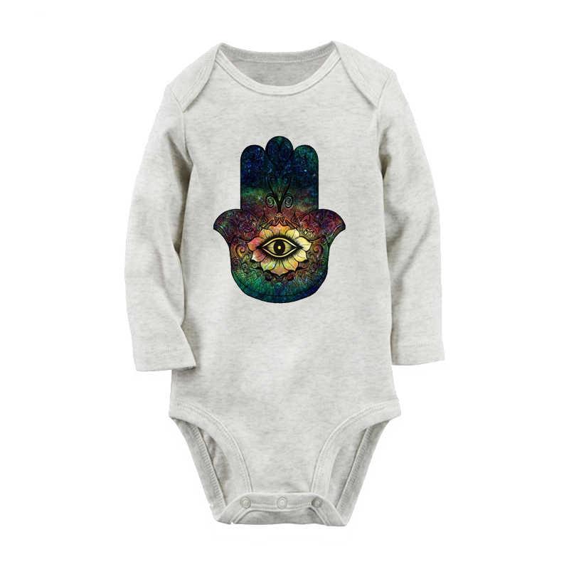 Killzone/черная одежда для новорожденных мальчиков и девочек с рисунком руки; комбинезон с длинными рукавами; боди для младенцев; комплект одежды из 100% хлопка