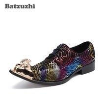 Batzuzhi ручной работы в стиле панк рок мужские туфли итальянском