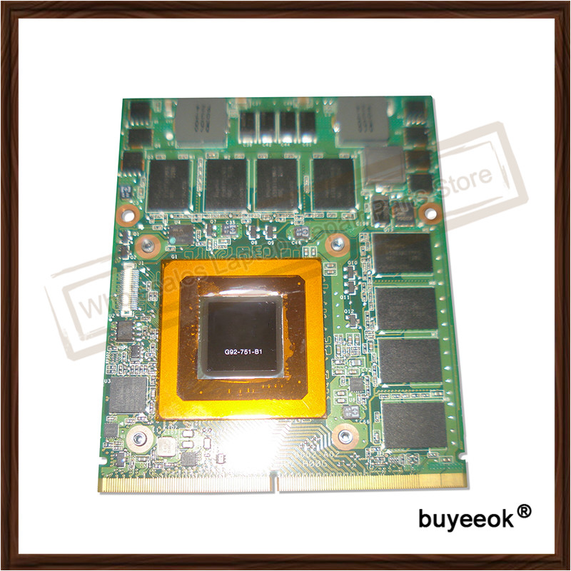 Original Used GTX 260M GTX260M 1G G92-751-B1 Graphic Card For DELL M15X M17X Display Video Card GPU Replacement Tested Working original used gtx 260m gtx260m 1g g92 751 b1 graphic card for dell m15x m17x display video card gpu replacement tested working