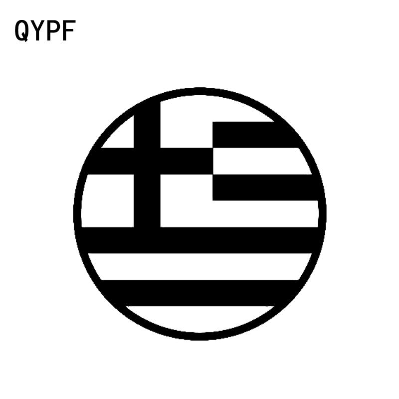 QYPF 12CM*12CM Round Greek Flag Fashion Car-styling Car Sticker Retro-reflective Decal Vinyl C15-0462
