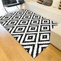 Скандинавские модные черно-белые прямоугольные ковры для журнальный столик для гостиной большой площади мягкие ковры современный простой ...