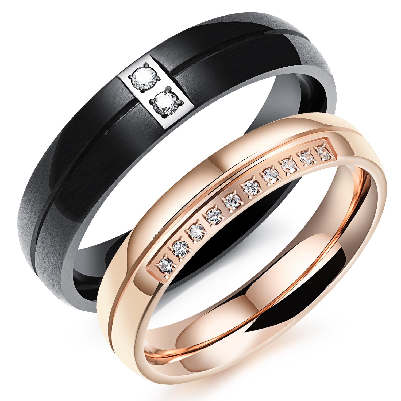 line Get Cheap Men Wedding Band Rose Gold Black Aliexpress