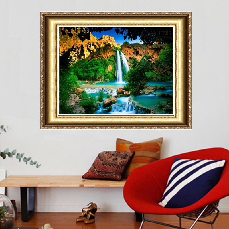 2018 Direct Selling New Spring Waterfall Diy Diamond Painting Set 40x30cm Square Resinstone Wall Decoration Patchwork Unfinish