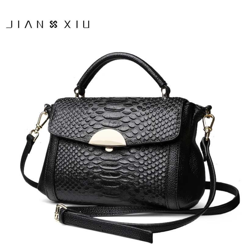 JIANXIU Fashion Genuine Leather Messenger Bag Famous Brand Female Shoulder Bags Ladies Clutch HandBags Alligator Crossbody bag passion s l