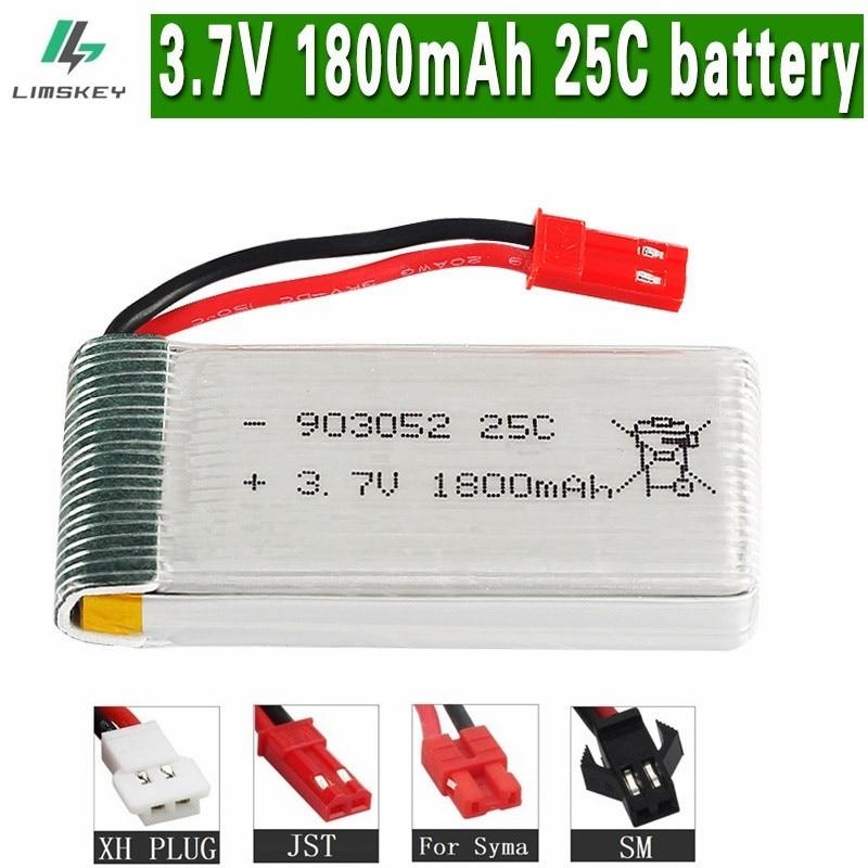 1800mAh 3.7v lipo Battery for KY601S SYMA X5 X5S X5C X5SC X5SH X5SW X5UW X5UC M18 H5P H11D H11C T64 T04 T05 F28 F29 T56 T57