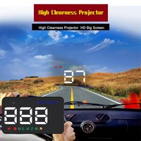 Universal A5 Car Hud Head Up Display GPS Speedometer Overspeed Car Alarm Auto Windshield Projector Car Electronics