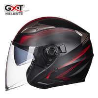 Été nouveau GXT Double lentille Moto casques demi-visage ABS Moto Casque électrique Casque de sécurité pour femmes/hommes Moto Casque