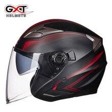 קיץ חדש GXT עדשה כפולה אופנוע קסדות חצי פנים ABS אופנוע קסדת חשמלי בטיחות קסדת עבור נשים/גברים Moto קסדה