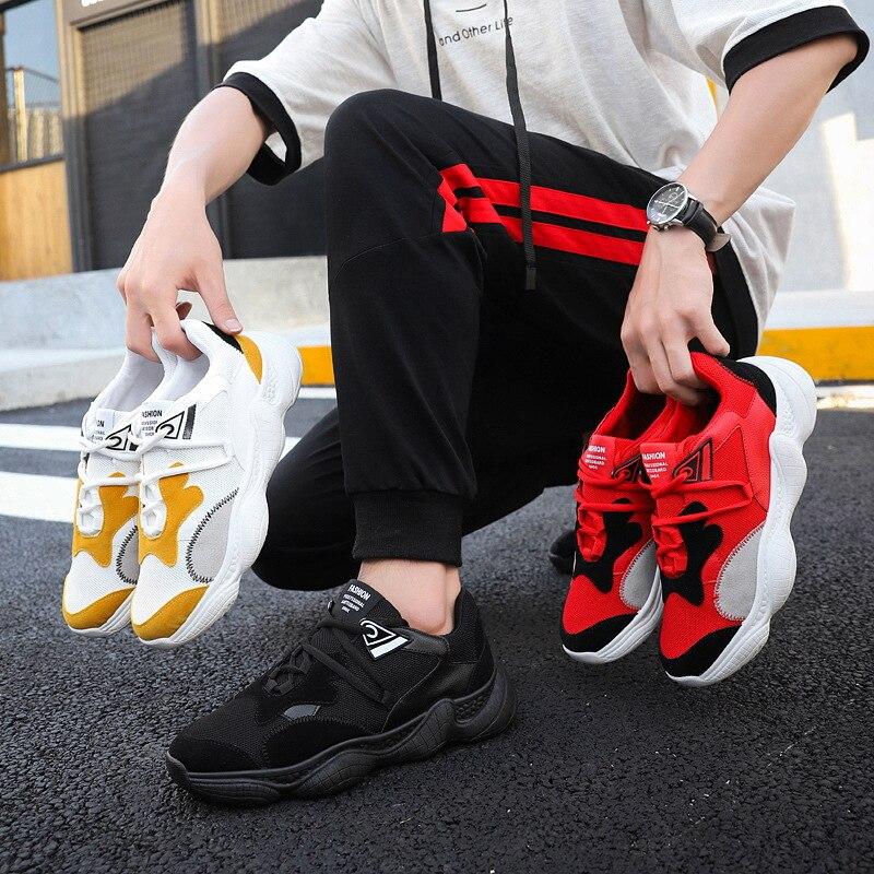 Chaussures Appartements Haute De 2019 Hommes rouge Automne Noir Printemps Casual jaune Qualité Nouveau f5twqU