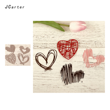 JCarter 4pcs Special Heart Metal Cutting Dies for Scrapbooking DIY Album Embossing Folder Paper Photo Maker Template Stencil