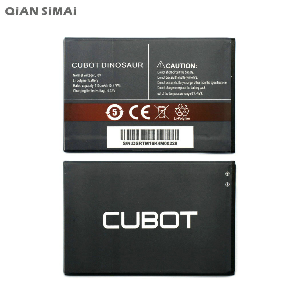 QiAN SiMAi 4150mAh High Quality Battery Rechargeable For Cubot Dinosaur Mobile Phone Batterie Bateria + Tracking Code