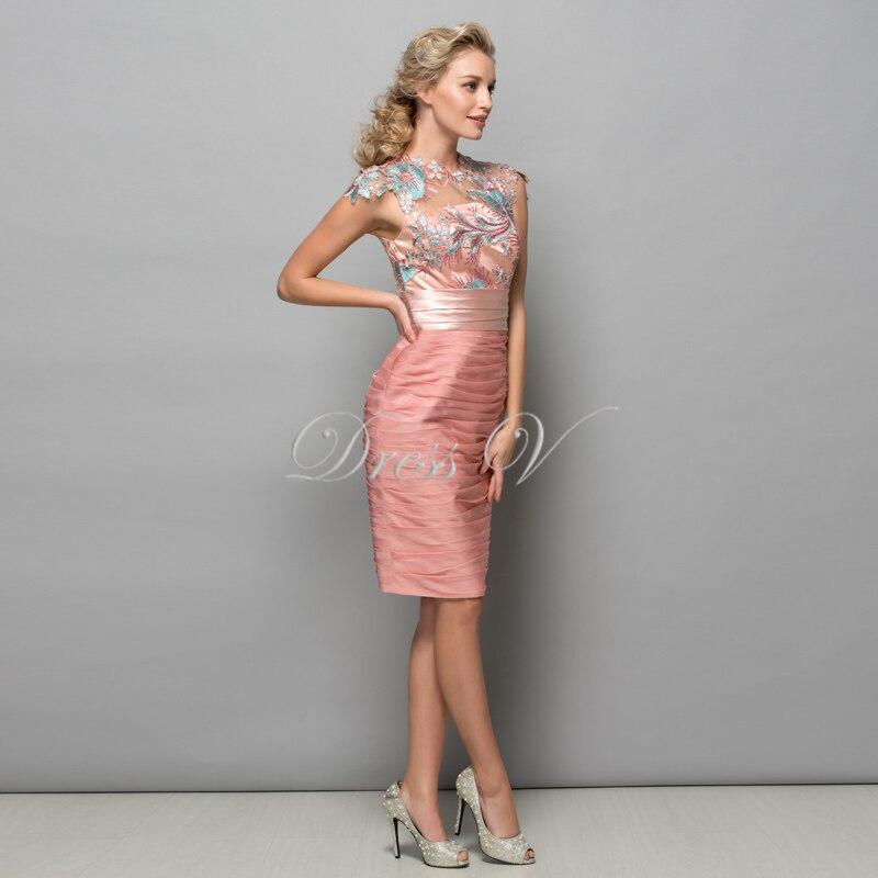 Dressv perle rosa chiffon kurze cocktailkleider 2017 pailletten ...