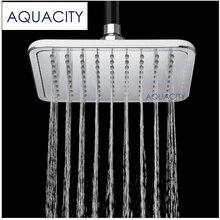 AQUACITY Rainfall Bath Shower Head 8 Inch Square Water Saving Shower Chrome Finish цена 2017