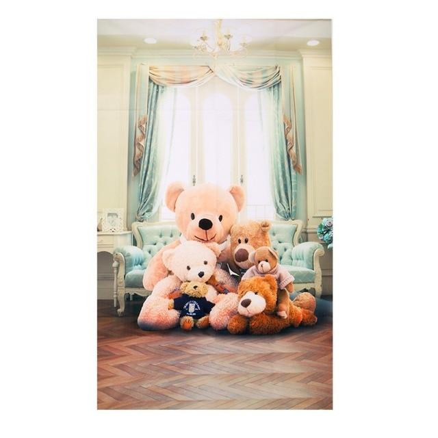 cute teddy vinyl photo studio backdrop bear background 3x5ft indoor