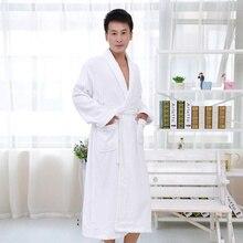 Cotton males bathrobe  nightgown sleepwear ladies males ladies blanket towel thickening lovers medium-long comfortable autumn winter