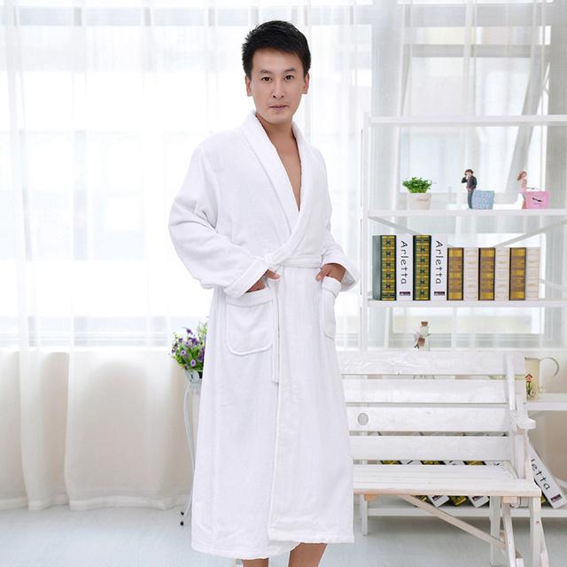 Homens roupão de banho de algodão plus size camisola sleepwear homens mulheres meninas amantes cobertor toalha espessamento macio de médio-longo outono inverno