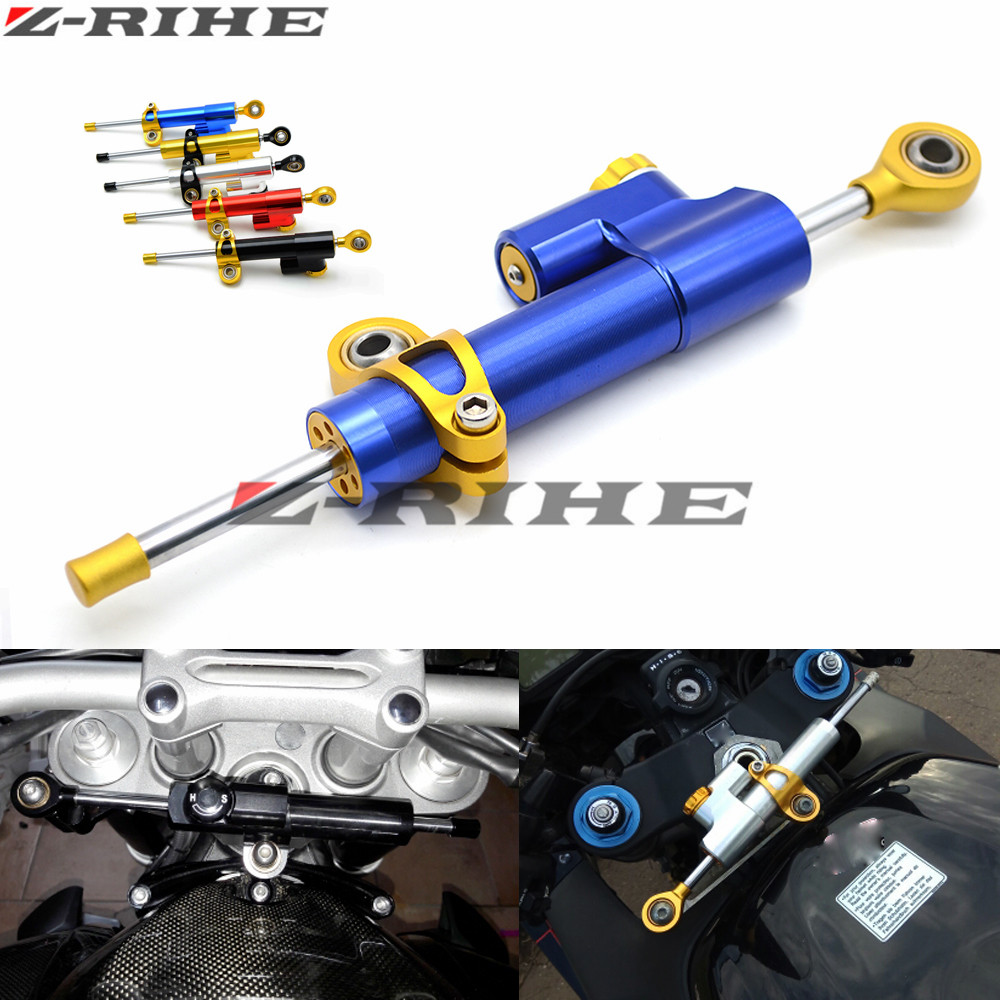 CNC Damper Steering StabilizerLinear Reversed Safety Control Over For Honda CB 599 919 400 CB600 HORNET CBR 600 F2 F3 F4 F4i motorcycle accessories damper stabilizer damper steering for honda cbr f4 cbr 954r cbr1000 cb400 cbr 600 rr cb500f cb 500 cb500
