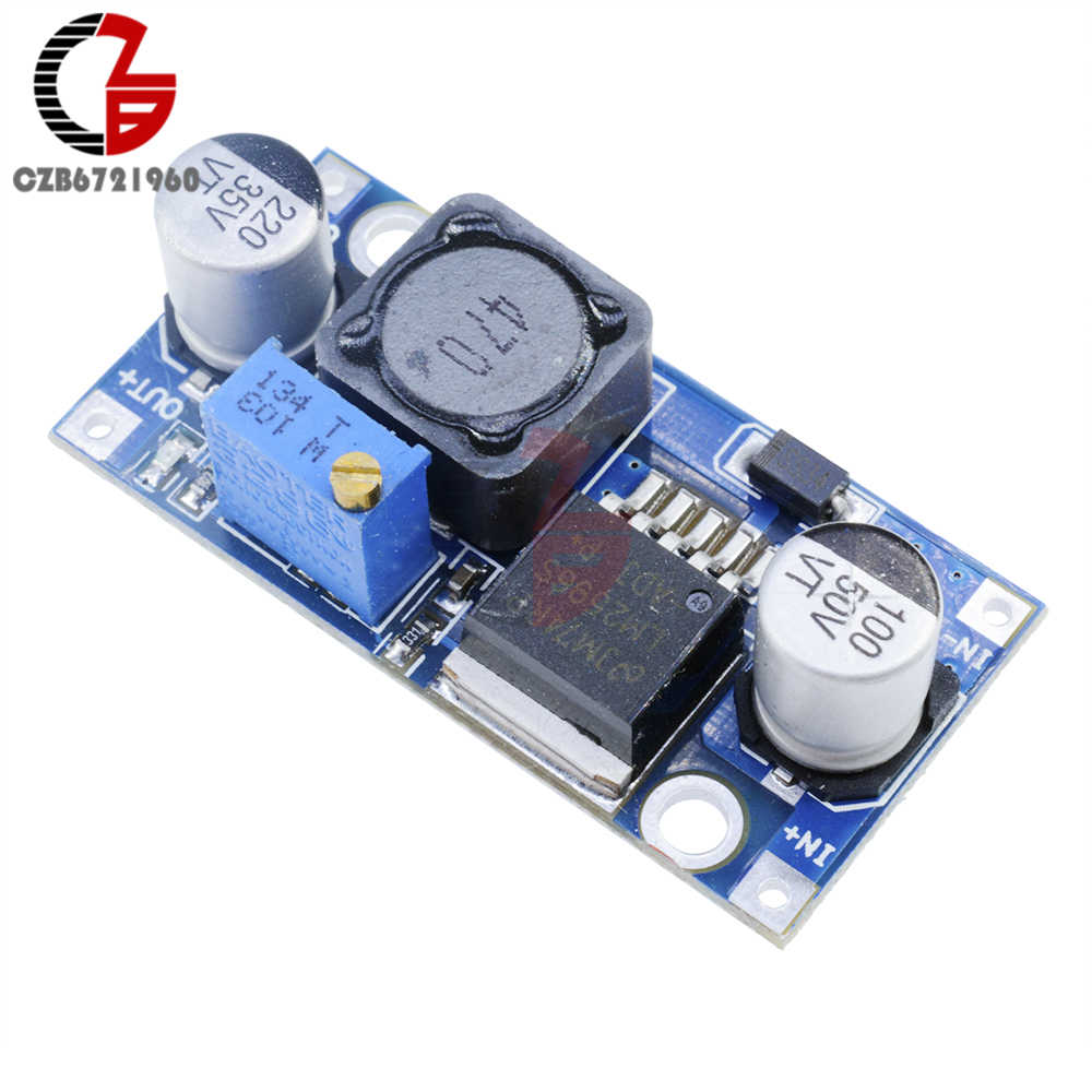 DC-DC Step Down Converter Modul LM2596 3.2V-40V untuk 1.25V-35V Adjustable Power regulator Tegangan Transformator Step-Down