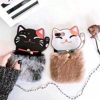 جديد الموضة 3d ليوبارد الشعر القطط الطباعة المال لينة سيليكون الهاتف المحمول حالات لل iphonex 8 8 زائد 7 7 زائد 6 6 ثانية 6 زائد عودة الأغطية