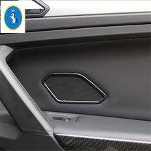 Yimaautotrims Rear Door Stereo Speaker Audio Sound Loudspeaker Cover Trim Fit For Volkswagen VW Tiguan MK2 2016 2017 2018 2019