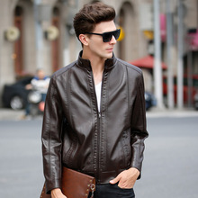Jaqueta De Couro Masculina Men Leather Jacket Slim Fit Spring Jacket Men Solid Mens Leather Jackets And Coats Blouson Cuir Homme
